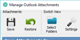 Attachment2File for Outlook Screenshot