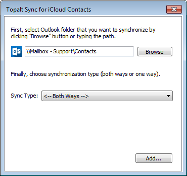 Topalt Sync for iCloud Contacts