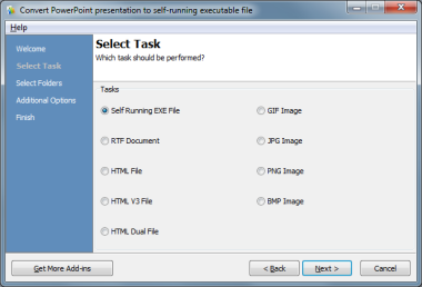 Convert Microsoft PowerPoint Presentations to Self-Running Exe Files/Images